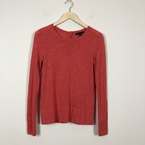 Ann Taylor Button Back Merino Blend Sweater